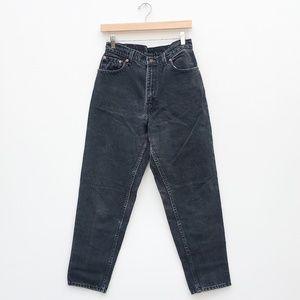 Vintage Levi's 551 Hi Rise Mom Jeans, Washed Black